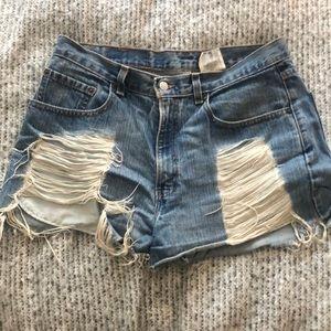 Vintage Levi's jean shorts